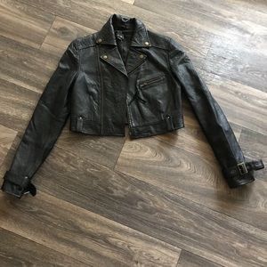 Jackets & Blazers - Sexy real leather cropped jacket😉🙃